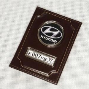 Обложка с логотипом и номером машины