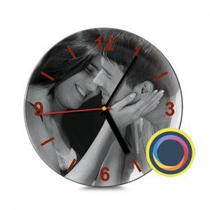 Керамические часы с фото 20 см