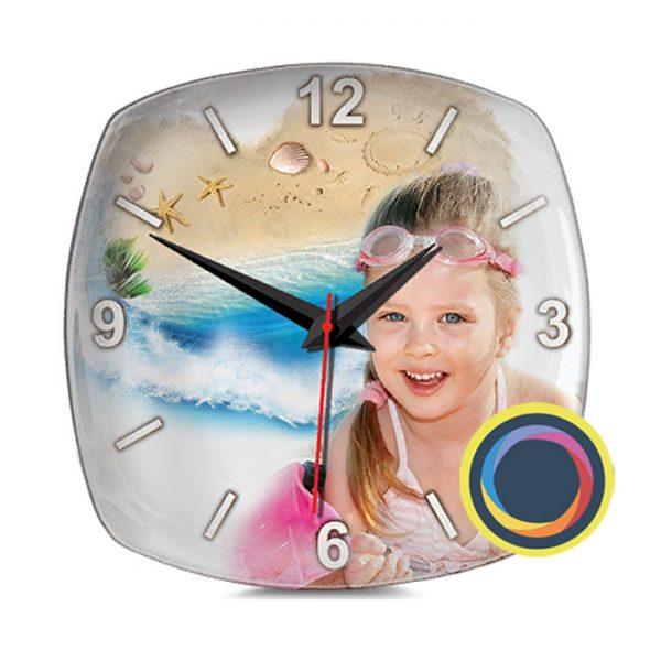 Керамические часы с фото 22х22 см