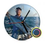 Керамические часы с фото 23 см