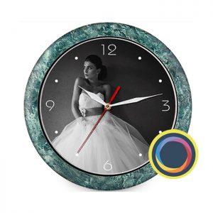 Часы с фото (имитация мрамора)