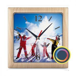 Квадратные часы с фото 29х29 см