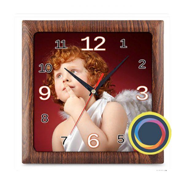 Квадратные часы с фото