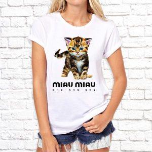 "Футболка ""Miau-Miau кис-кис-кис"""